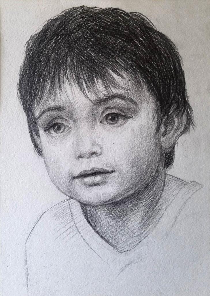 Portrait d'un enfant. Etape 5