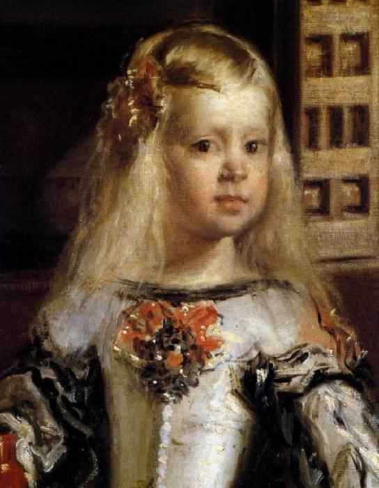 Infante Marguerite à l'âge de 5 ans.