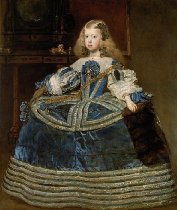 L'infante Marguerite en robe bleu. (1659)